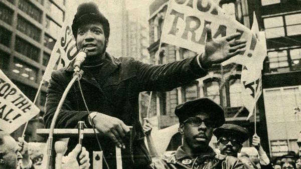 Fred Hampton giving a speech