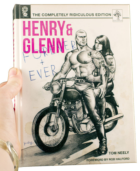 Henry & Glenn now in more definition than ever, straddle the same motorcycle looking all sexy at one another