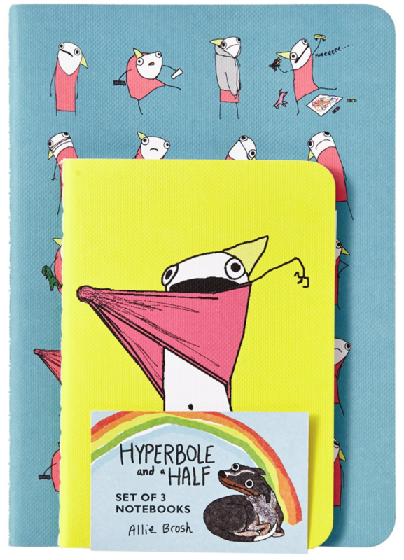 Hyperbole and a Half Notebooks (Set of 3)(Shrinkwrapped) blowup