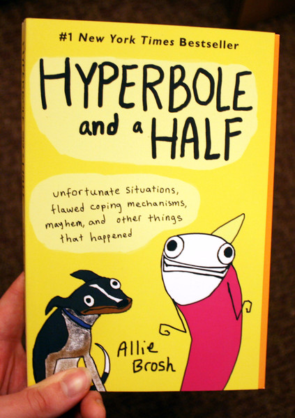 hyperbole and a half by allie brosh yellow cover