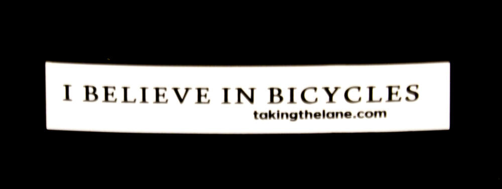 I believe in bicycles vinyl sticker blowup