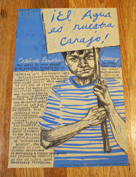 Cochabamba water uprising in Bolivia poster