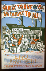 ILWU (Injury to one is an injury to all) poster