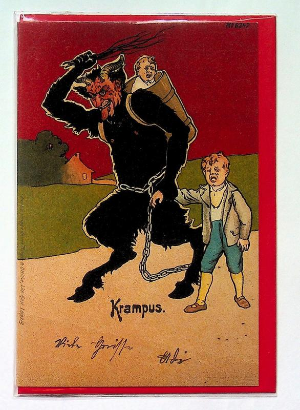 Krampus Card: Red Sky blowup