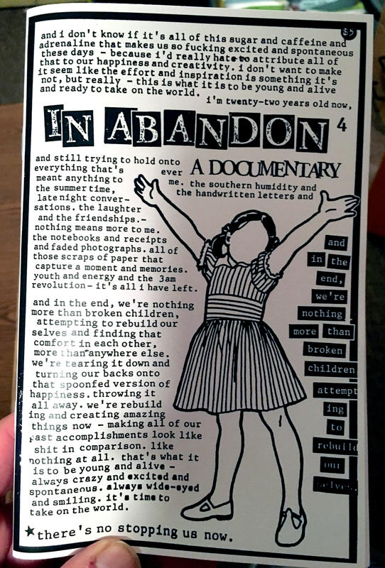 In Abandon #4: A Documentary