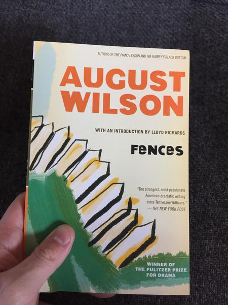 "Fences by August Wilson (author of The Piano Lesson and Ma Rainey's Black Bottom), Winner of the Pulitzer Prize for drama, with an introduction by Lloyd Richards. ""The strongest, most passionate American dramatic writing since Tennessee Williams."" - The New York Post (an expressionist painting of a fence poses in the background)"