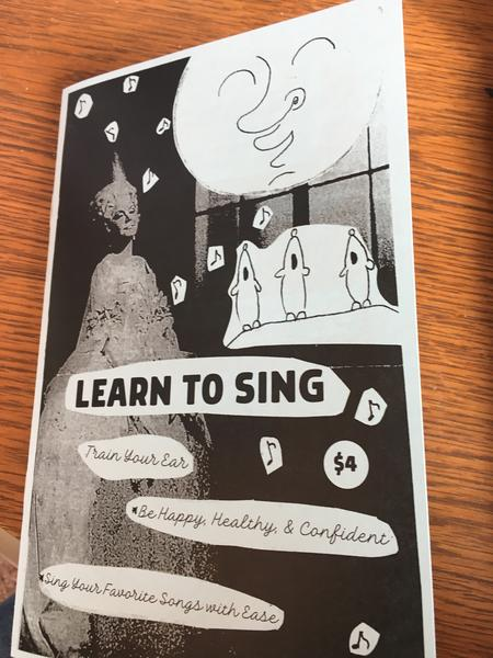 Cover of Learn to Sing in black and white
