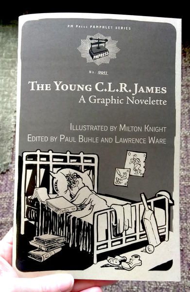 Cover of The Young C.L.R. James which has a drawing of a child asleep in bed