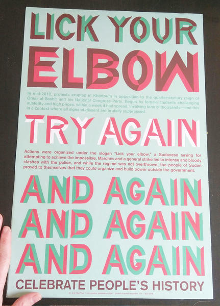 Lick Your Elbow Poster