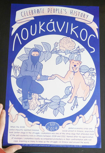 Loukanikos Poster blowup