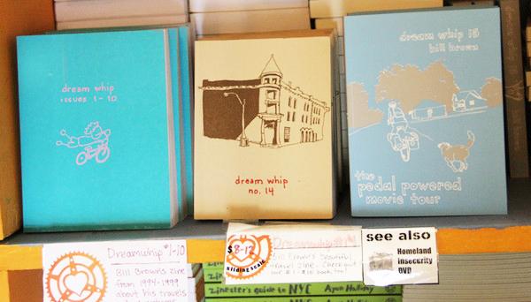three dreamwhip books on a shelf!