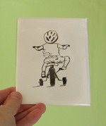 Toddler Bike greeting card