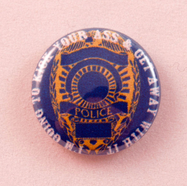 police badge button blowup