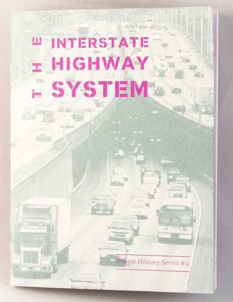 A zine with a photo of a packed interstate highway