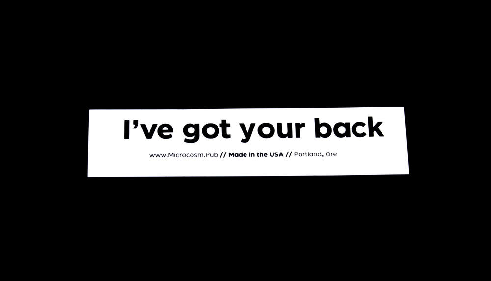 Sticker #424: I've got your back