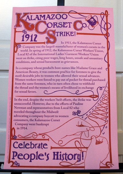 Kalamazoo Corset Company Strike of 1912 Celebrate People's History justseeds poster blowup