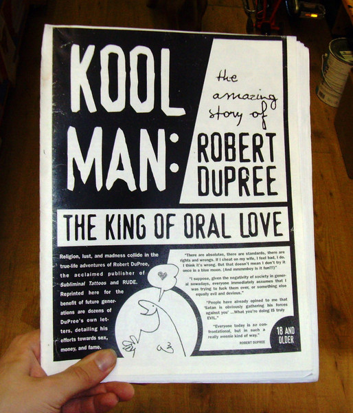 Kool Man: The King of Oral Love zine cover