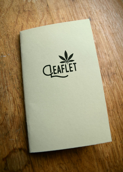 Leaflet marijuana cannabis strain tracking journal by Daniel Cole