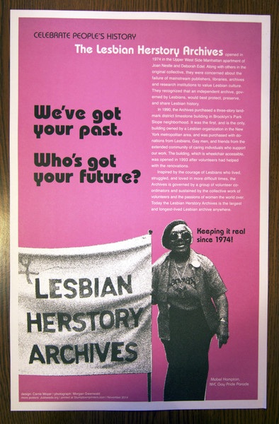 lesbian history Herstory poster by Just Seeds and Carrie Moyer