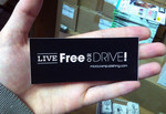 Sticker #309: Live Free or Drive! (black)