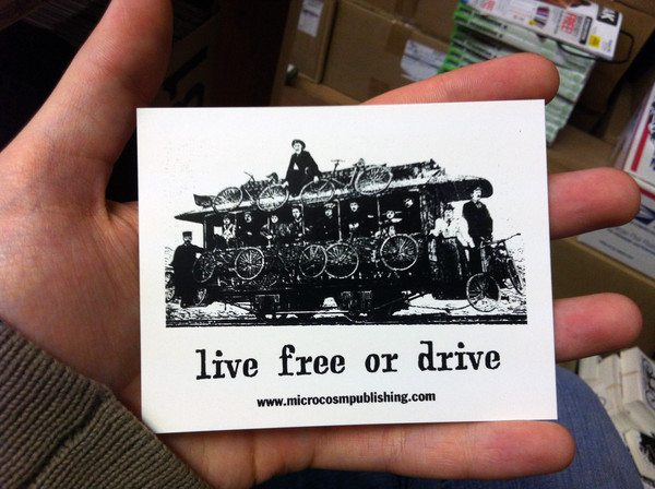 live free or drive streetcar vinyl sticker blowup