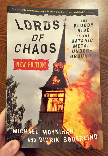 Cover Lords of Chaos: The Bloody Rise of the Satanic Metal Underground New Edition which features a burning church steeple
