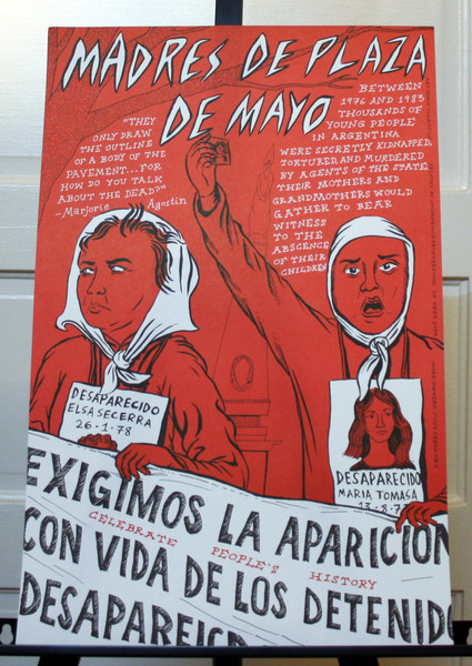 Madres de Plaza de Mayo mothers of kidnapped children in Argentina poster