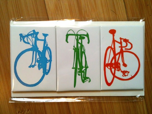 racing bike magnet blowup