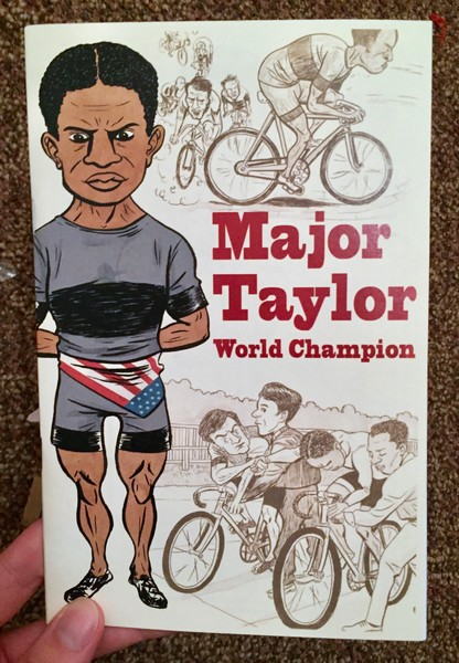 Major Taylor: World Champion zine cover blowup