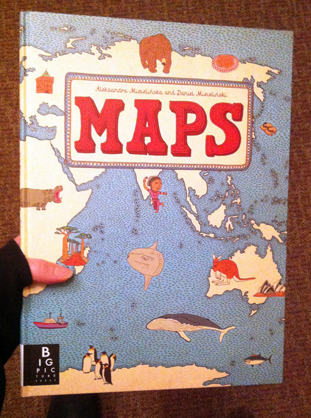 a map with images on the cover Maps by Aleksandra Mizielinska and Daniel Mizielinski