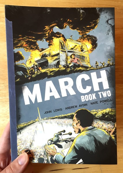 MARCH: Book 2 by Nate Powell and John Lewis and Andrew Aydin
