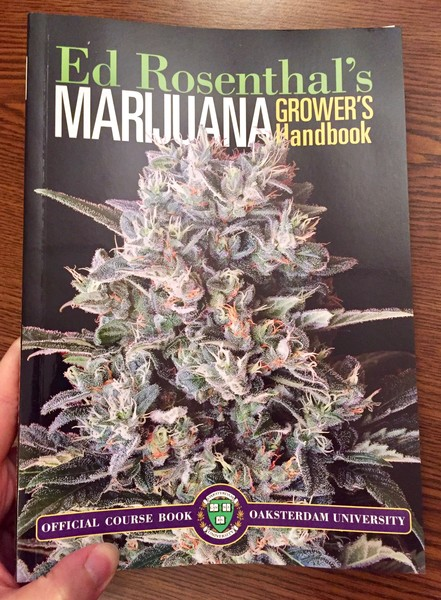 Marijuana Grower's Handbook by Ed Rosenthal [Just a giant pot plant] blowup
