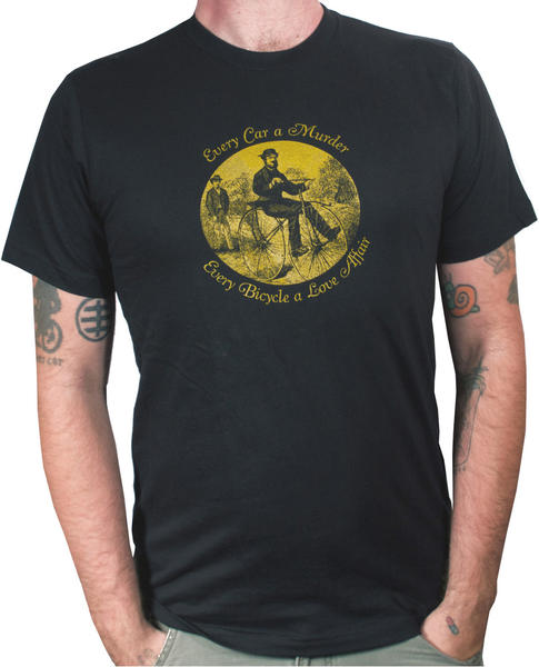 T-shirt reading Every Car a Murder, Every Bike a Love Affair