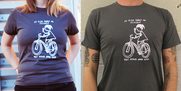 My Bike Takes Me Places That School Never Could T-Shirt