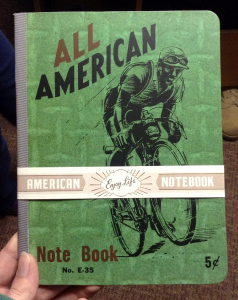 All American Bicyclist Vintage Notebook by Laughing Elephant