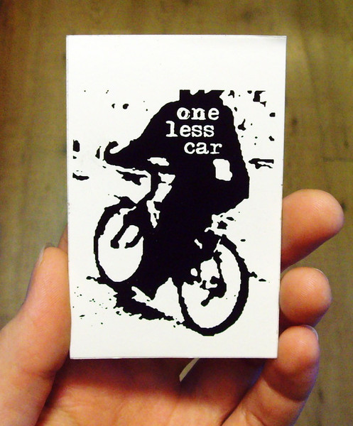 One less car vinyl sticker