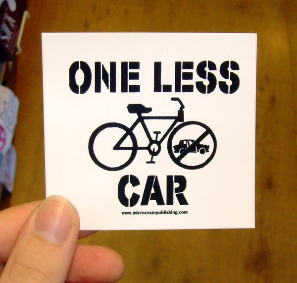 Sticker #084: One Less Car