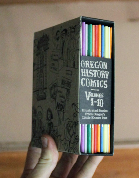 Oregon history comics box set by Dil Pickle Club, Shawn Granton, John Isaacson, Nicole Georges, Sarah Mirk, Khris Soden, Know Your City