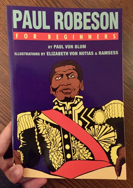purple book cover depicting Paul Robseon