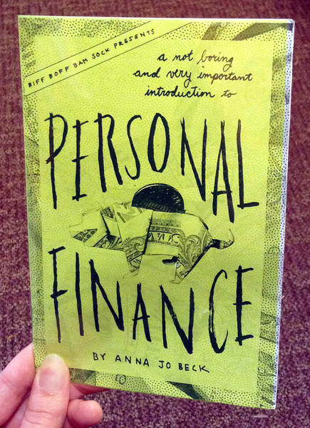 personal finance zine blowup