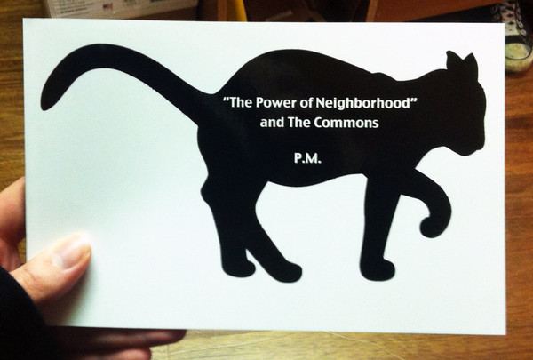 The power of neighborhood and the commons by P.M.