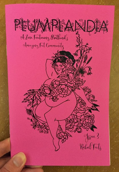 Cover of Plumplandia #3 [A curvy woman draped in flowers]