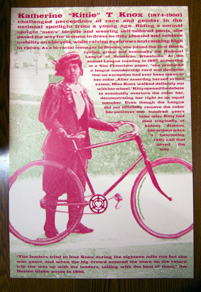 Kittie Knox bicycle poster blowup