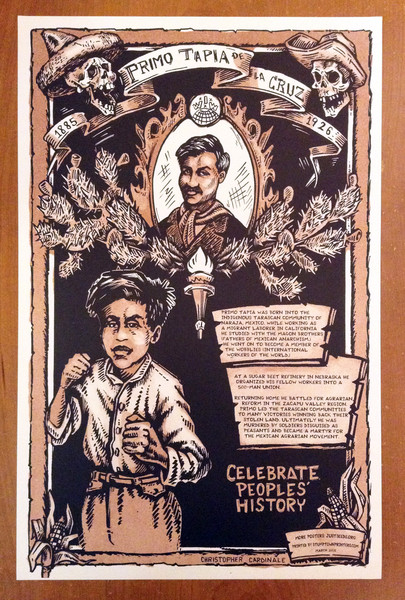 Primo Tapia justseeds poster celebrate people's history blowup