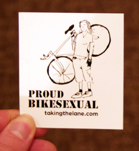 proud bikesexual vinyl sticker