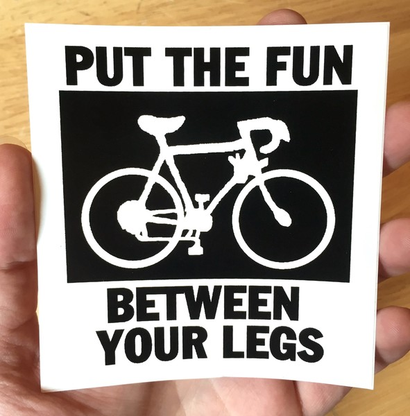 Sticker #149: Put The Fun Between Your Legs (square)