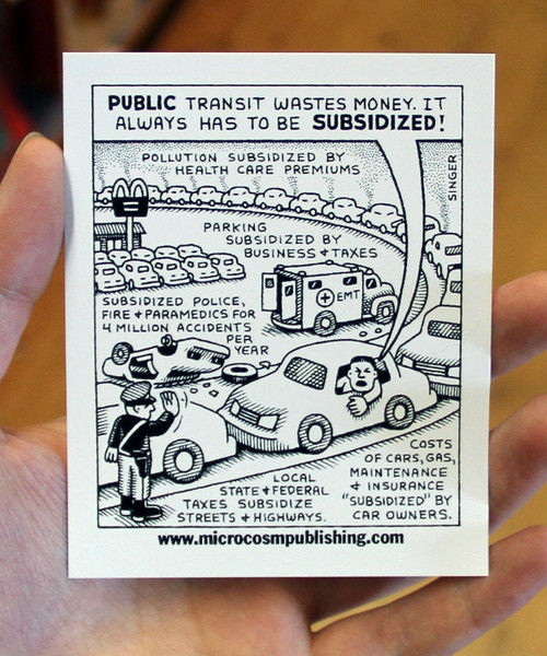 public transportation vinyl sticker