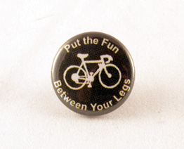 Put the fun between your legs biking button