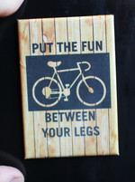 Put the Fun Between Your Legs magnet