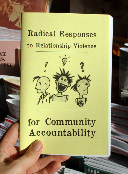 Radical Responses to Relationship Violence for Community Accountability zine cover